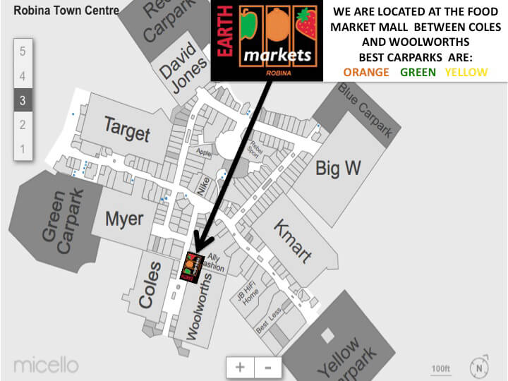 Robina Town Centre Map Slide2 Robina Town Centre Map