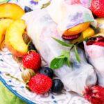 fruit in rice paper rolls